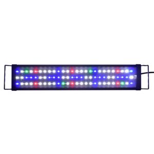 AE-SHOP LED Aquarium Hood Lighting Fish Tank Light for Freshwater and Saltwater, Blue and White Light