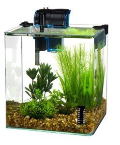 Penn Plax Vertex Aquarium Kit for Fish and Shrimp With Filter